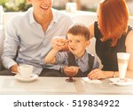 family with son having fun in a ... | Shutterstock . vector #519834922