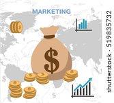 bag with money. vector | Shutterstock .eps vector #519835732