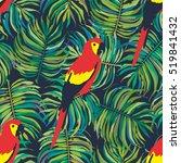 parrot pattern seamless | Shutterstock .eps vector #519841432