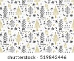 vector seamless pattern with... | Shutterstock .eps vector #519842446