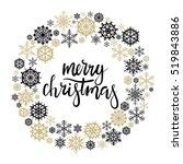 merry christmas hand lettering... | Shutterstock .eps vector #519843886