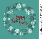 happy new year hand lettering... | Shutterstock .eps vector #519844582