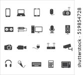 electronics  icon | Shutterstock .eps vector #519854728