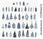 set of hand drawn christmas... | Shutterstock .eps vector #519856672