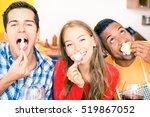 multiracial best friends fun... | Shutterstock . vector #519867052
