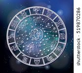 horoscope circle.zodiac... | Shutterstock .eps vector #519870286