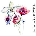 Spring Flowers Watercolor...