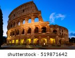 night view of colosseum in rome ... | Shutterstock . vector #519871642