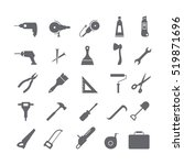 black icons with tools | Shutterstock .eps vector #519871696
