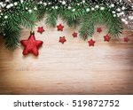 christmas card with decorative... | Shutterstock . vector #519872752