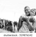 elderly senior couple romance... | Shutterstock . vector #519876142