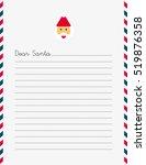 vectorized santa claus letter ... | Shutterstock .eps vector #519876358