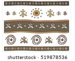 ethnic ornament with shamanic... | Shutterstock .eps vector #519878536