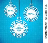 snowflake tag   christmas sale. ... | Shutterstock . vector #519881416