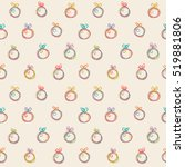 seamless pattern with christmas ... | Shutterstock . vector #519881806