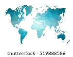 low poly map of world. world... | Shutterstock .eps vector #519888586