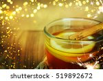 christmas mulled wine with... | Shutterstock . vector #519892672