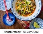 khao soi   traditional thai... | Shutterstock . vector #519893002