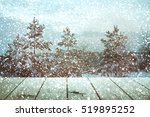christmas table background | Shutterstock . vector #519895252