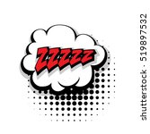 lettering zzz  sleep. comic... | Shutterstock .eps vector #519897532