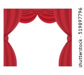 curtain cinema isolated icon | Shutterstock .eps vector #519897796