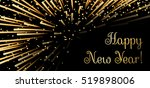 happy new year background. gold ... | Shutterstock .eps vector #519898006