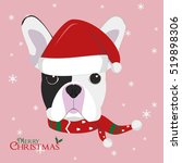 christmas greeting card. french ... | Shutterstock .eps vector #519898306