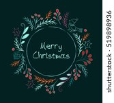hand drawn christmas card  on a ... | Shutterstock .eps vector #519898936