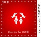 family life insurance sign icon.... | Shutterstock .eps vector #519899536