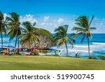 Barbados Shore Line In The...