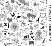 seamless doodle pattern with... | Shutterstock .eps vector #519903412