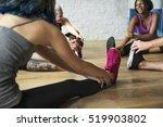 yoga practice exercise class... | Shutterstock . vector #519903802