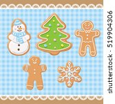 new year set collection. sweet... | Shutterstock .eps vector #519904306