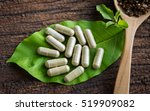 herbal medicine in capsules... | Shutterstock . vector #519909082