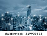 network business conection... | Shutterstock . vector #519909535
