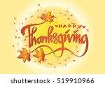 hand drawn thanksgiving...   Shutterstock .eps vector #519910966