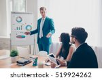 young manager presenting... | Shutterstock . vector #519924262