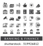 set of icons related to finance ... | Shutterstock .eps vector #519926812