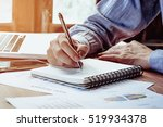 businessman hands with pen... | Shutterstock . vector #519934378