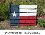 Texas State Flag Painted On A...