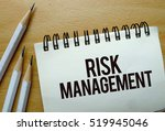 risk management text written on ... | Shutterstock . vector #519945046