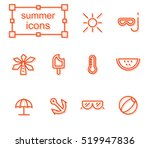 icons set   summer | Shutterstock .eps vector #519947836