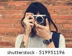 man photographer traveler... | Shutterstock . vector #519951196