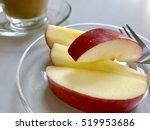 apple slices on dish   Shutterstock . vector #519953686