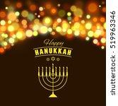 hanukkah background with... | Shutterstock .eps vector #519963346