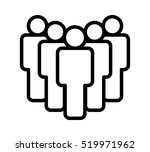 group of five people or group... | Shutterstock .eps vector #519971962