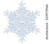 big crystal snowflake in blue... | Shutterstock . vector #519973966