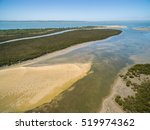 aerial view of rhyll inlet and... | Shutterstock . vector #519974362