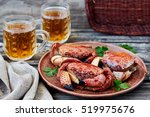 Boiled Red Stone Crabs On A...