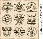 wild west  sheriff department ... | Shutterstock .eps vector #519975802